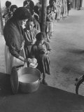 Children Getting Milk with Lunch