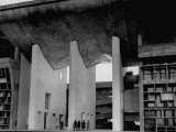 Entrance to Punjab High Court Building  Designed by Le Corbusier  in the New Capital City of Punjab