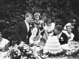 Senator John F Kennedy with His Bride Jacqueline at Their Wedding Reception