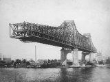 Queensboro Bridge under Construction Papier Photo