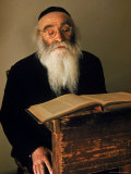 Rabbi Reading the Talmud Aluminium par Alfred Eisenstaedt