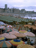 Sea of Umbrellas and Canvas Nearly Covers Mar Del Plata Beach