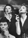Models Exhaling Elegantly  Learning Proper Cigarette Smoking Technique in Practice For TV Ad