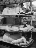 Sailors Sleeping in Their Quarters Aboard a Us Navy Cruiser During WWII