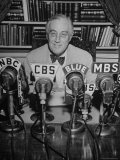 President Franklin D Roosevelt  Broadcasting a Speech over the Radio from the White House