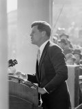 President John F Kennedy Making Inaugural Address