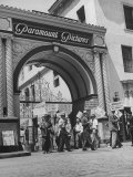 View of Picket Lines in Front of Paramount Studios During a Set Directors Strike