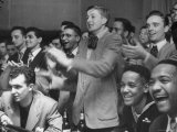 People Cheering Singer Ella Fitzgerald During Opening Night of Bop City