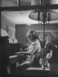"Suzy Creech  Typical Girl Known as a ""Pigtailer"" at Home Playing the Piano"