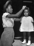 Mother Grooming Her Daughter For Healthiest Baby Contest Held at All African American Fair