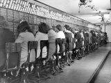 Operators Working in Telephone Room of the Waldorf Astoria Hotel
