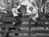 Springtime in Clarksville  with Two Kids and Their Pet Horse