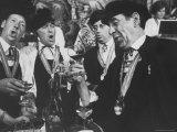 Men Wearing Special Tasters at Chevalier du Taste Vin Harvest Banquet