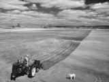Spring Plowing on Farm in de Soto  Kansas
