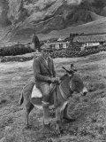 Tristan Da Cunha Island Chef Willie Repetto Riding Donkey