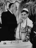 Rabbi David S Novoseller Adjusting Carl Jay Bodek's Robe During Ceremony