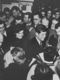Senator John F Kennedy and Wife Campaigning in Democratic Presidential Primaries