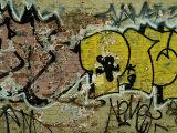 Graffiti Painted on a Brick Wall