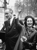President Lyndon B Johnson with Ladybird  on Her 3 Day Tour of Schools in the Appalachia