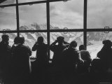 Tourists Viewing the Alps