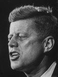 Senator John F Kennedy During Campaign For Presidency