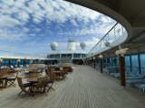 Tables and Chairs on the Pool Deck of a Cruise Ship