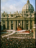 Pope Paul VI in Front of St Peter's During 2nd Vatican Council