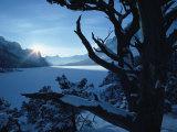 Winter Landscape  Many Glacier  Glacier National Park  Montana