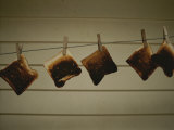 Burnt Toast Hanging on Clothesline
