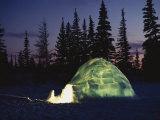 A Warm Glow Eminates from an Igloo
