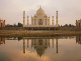 A View of the Taj Mahal Reflected in the Yamuna River