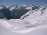 A Skier Heads Down Mount Swanzy