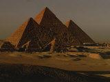 Giza Pyramids from Left- Kings Menkure  Khafre and Khufu