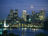 Moonrise over the Montreal Skyline