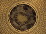 The Interior Dome of the Capitol Building in Washington  DC  District of Columbia  United States