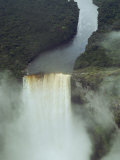 An Aerial View of Kaitur Falls  in Guyana