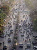 Cars and Mopeds Fill the Main Thoroughfare Through Saigon