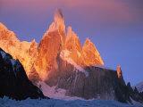 Sunrise over Patagonias Cerro Torre Massif