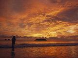 A Brilliant Orange Sunset on the Coast of Costa Rica