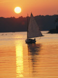 Sailboat and Sunset  South River  Maryland