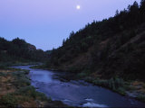 The Moon Appears over the Rogue River