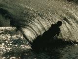 Slalom Waterskier Silhouette  Chesapeake Bay  Virginia