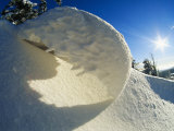 Close View of Snow Bank