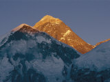Mount Everest is Seen in the Evening Light