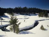 Virginia Creek  with a Cross-Country Skier