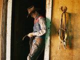 A Cowboy Braids a Lariat