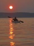 Seakayaking on the Potomac River at Sunset