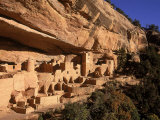 Ruins of the Anasazi Cliff Palace Occupied Between AD 550 and 1300