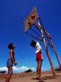 Children Playing Basketball at Honda Bay  Puerto Princesa  Philippines