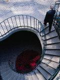 Businessman Ascending Stairs at Embarcadero Centre  San Francisco  California  USA